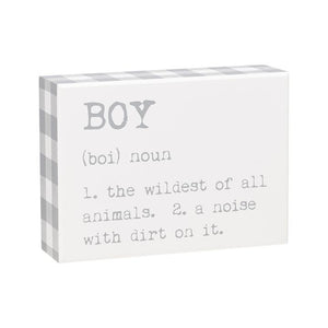 Boy Box Sign
