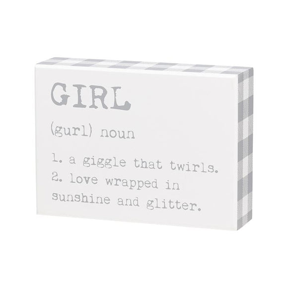 Girl Box Sign