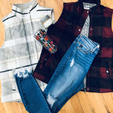 Plaid Vest with Sherpa Lining