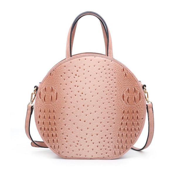 Blush Croc Round Satchel