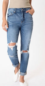 KANCAN High Rise Cuffed Ankle Skinny