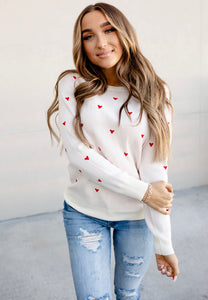 Be Mine Heart Sweater