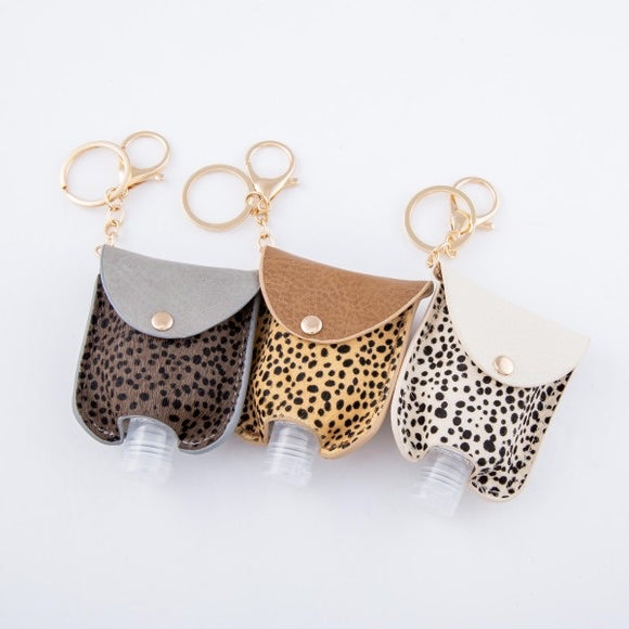 Animal Print Hand Sanitizer Key Chain