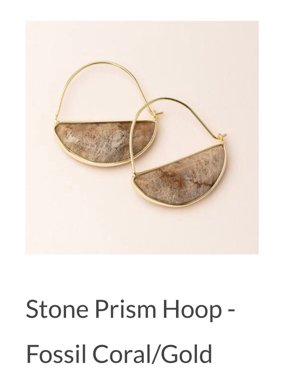Scout Half Moon Stone Earrings