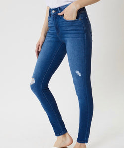 KanCan Mid Rise W. Band Detailed Super Skinny