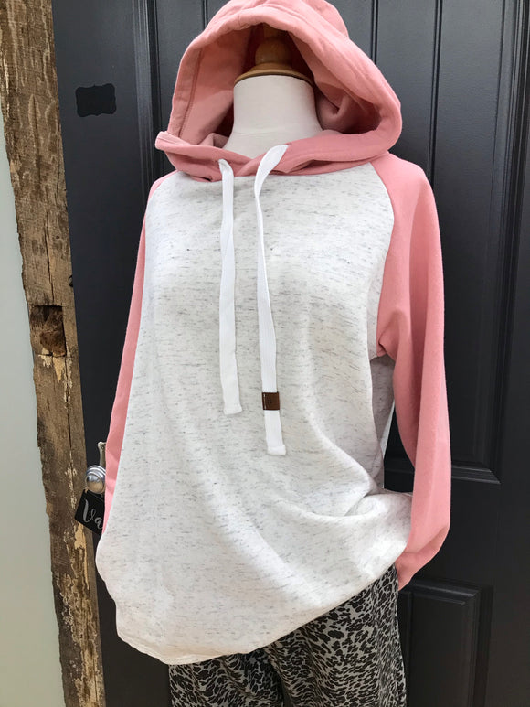 Candy Pink Athletic Hoodie