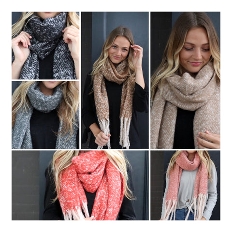 Plush Oblong Scarf