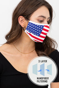 Adult USA Print Non Medical Face Covering