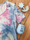 Ultra Soft Tie Dye Tee with Pocket