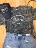 Camo Small Business Babes Club Tee