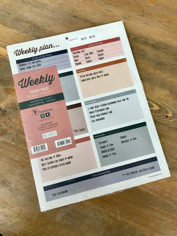 Boho Design Weekly Task Pad