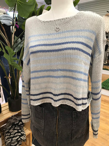 Shades of Blue Crop Sweater
