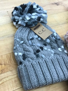 CC Beanie with Soft Felt Pom