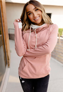 Blush Double Hooded Hoodie