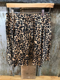 Plus Lovely Leopard Flutter Skirt