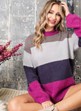 Color Block Longline Sweater