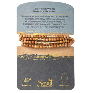 Scout Stone Wrap Bracelet & Necklace in One