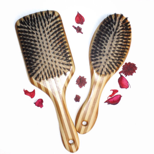 Bamboo Boar Bristle Hair Brush