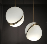 Round balls Moon Brass Suspension Pendant lamp for Dining room Living room