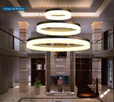 Ring circles modern led pendant light for dining living room DIY pendant lamp