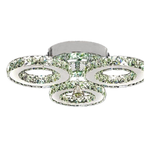 Modern stainless steel crystal  Chandeliers lamps led crystal lustre circle Chandeliers