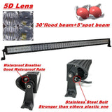 5D 50 inch 672W CREE Led Work Light Bar Spot Flood Combo Offroad SUV Driving Ford