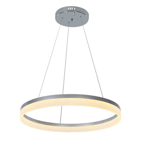 Acryl Annulus Pendant Light Fixtures Remote Control Led Lamp Loft Style Lustre