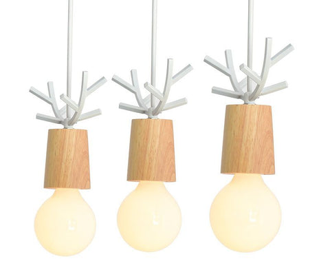 Wooden LED Pendant Lights For Dining Kitchen Lustres White Black Metal Hanging Lamp E27 Kitchen Lighting Fixture