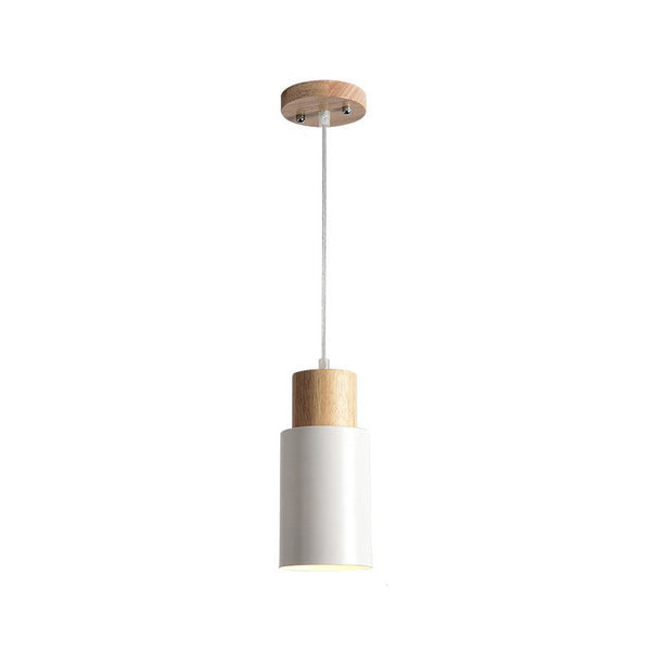 Pendant Lights Wooden Dining Light Modern Hanging Lamp White Black Kitchen Lighting Fixtures Wood Lamps