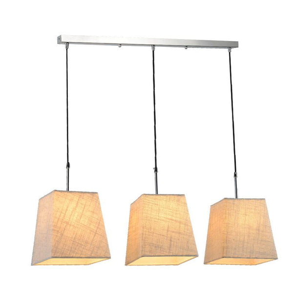 Dining Light Hanging Lamp With Triple Lampshades Indoor Lighting Fixture For Kitchen Living Room