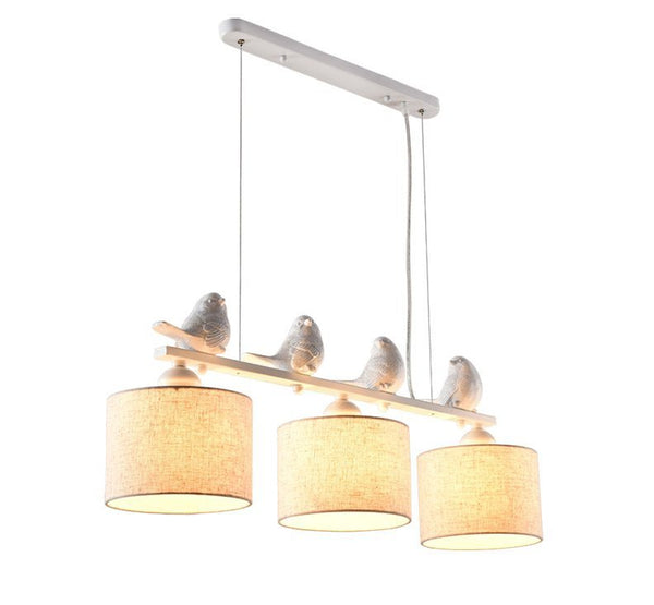 Indoor Pendant Lights Modern Fabric Hanging Lamp With Lampshades Vintage Bird deco