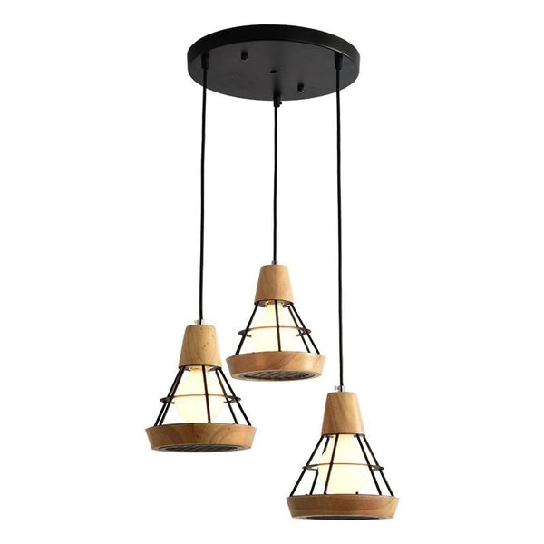 LED Pendant Lights For Dining Wooden Vintage Metal Hanging Light Kitchen Light Fixtures