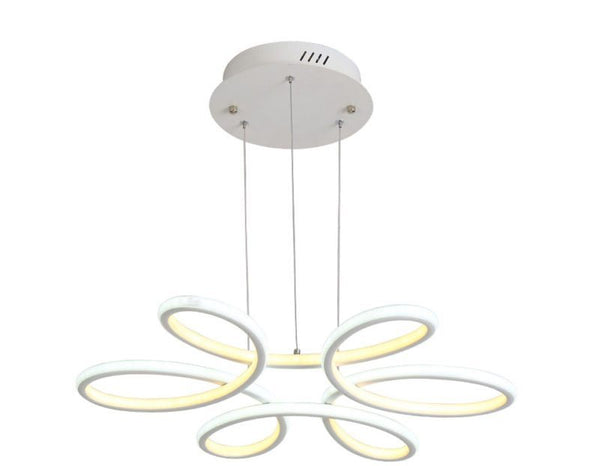Modern Hanging Light Fixture Aluminium Ceiling Plate Remote Control Chandeliers Living Room