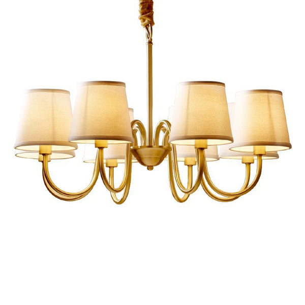 Copper Lamp Chandelier Light Living Room Chandelier Lighting
