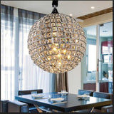 Led Lusters Ball Ring Crystal Pendant Lights Hanglamp Lustres Light Fixtures Loft Industrial Home Abajur Luminaires