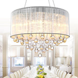 LED Crystal Pendant Lights for Indoor Home Dinning Room  Round Suspension