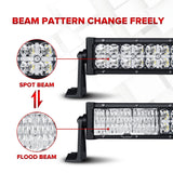 "7D 500W 52"" Curved LED Light Bar Offroad Led Work Light Driving Lamp Combo Beam"