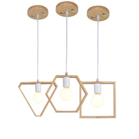 Wood Pendant Light Hanging Lamp Pendant Lights For Dining Living Room