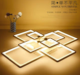 Modern led square Ceiling Light Remote Controlling acrylic  Dimming Bedroom Ceiling Lighting