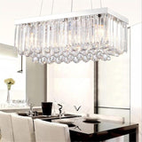 Lustre Modern Led Crystal pendant Chandelier lighting E14 droplight  fixture K9 rectangle lamp
