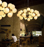 Round Bubble LED pendant Lamp Lighting Fixture for dining room glass pendant