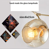 Led Glass Ball Pendant Light for Dining Room Lamp Hanging Lamps Lighting suspension
