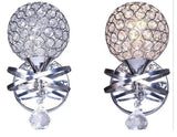 crystal ball bedside wall lamp LED K9 Crystal berdroom indoor aisle entrance lamp