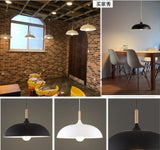 Loft led Pendant Lights Wood Aluminum Lampshade Dining Room Pendant Lamp