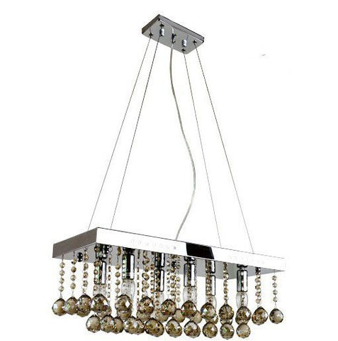 crystal modern stainless steel pendant lamp rectangle crystal ceiling lamp