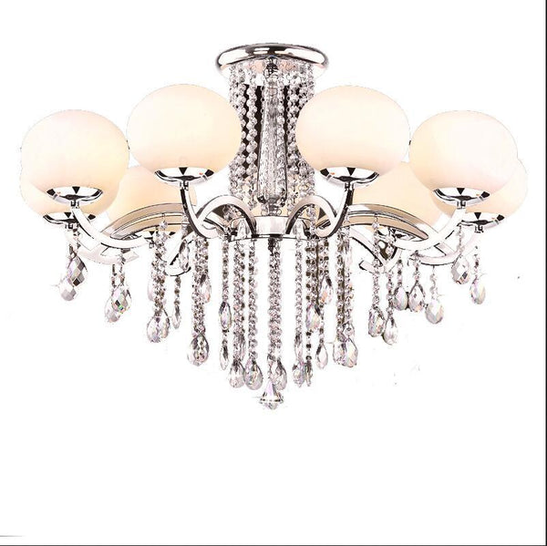 Round Crystal Ceiling Lamp For Living Room Indoor Lamp home decoration