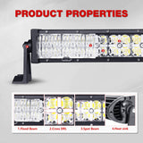 7D Curved 22inch 200W LED Light Bar Combo Beam Led Work Light 12v 24v Offroad Led Bar