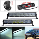 5D 22 inch 120W LED Work Light Bar For Tractor OffRoad 4WD 4x4 Truck SUV ATV Spot Flood Beam