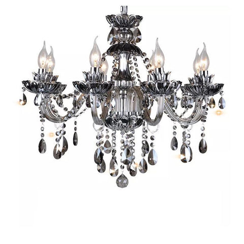 Smoked K9 Crystal Chandelier Light Crystal Chandeliers Light