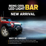 50inch 648W 3-Row LED Offroad Light Bar Combo Led Work Light Bar Driving Lamp